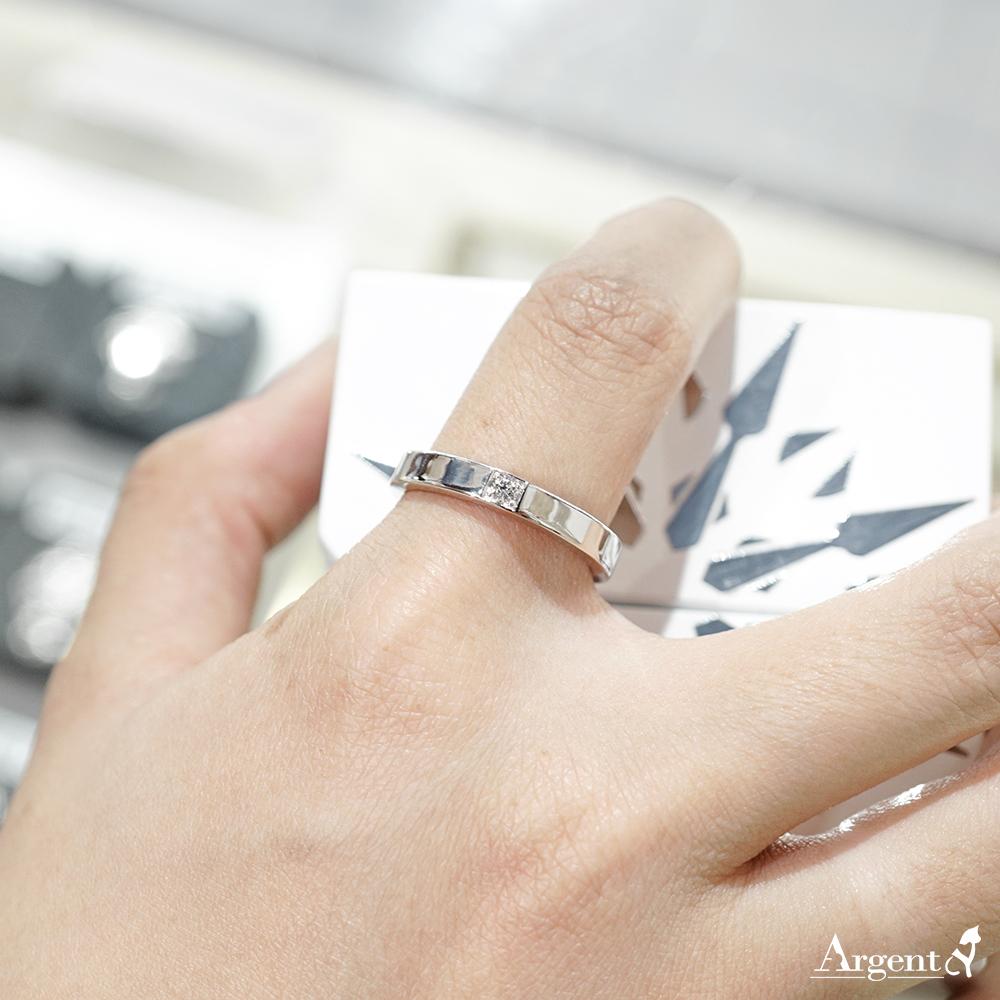 「永恆-寬」鑲鑽造型設計K金真鑽戒指|戒指推薦