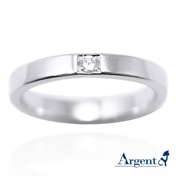 「永恆-細」鑲鑽造型設計K金真鑽戒指|戒指推薦