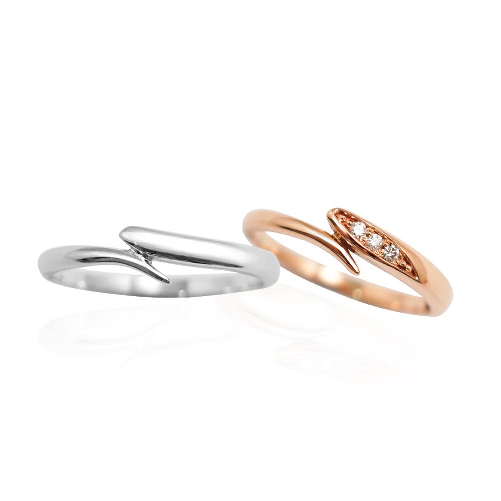 流情(對戒) 造型14K金戒指|14K金戒指推荐