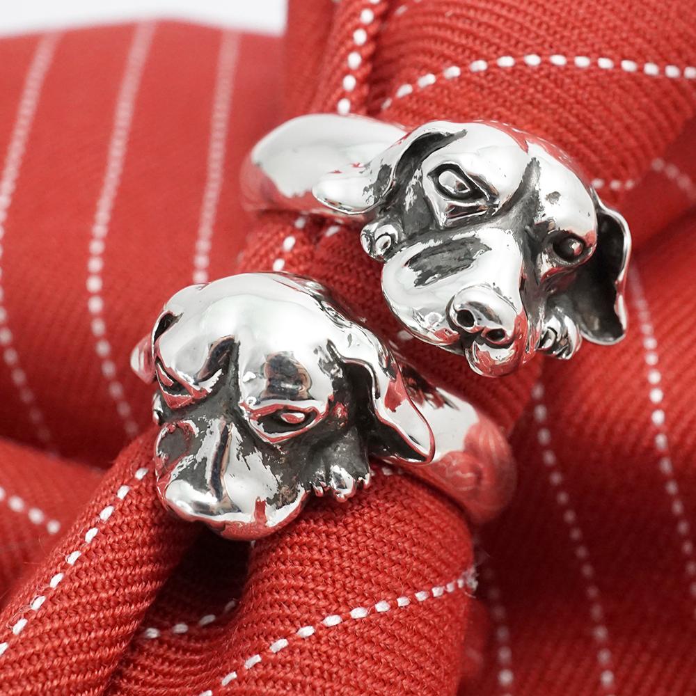 特殊訂製-立體寵物造型雕刻純銀戒指
